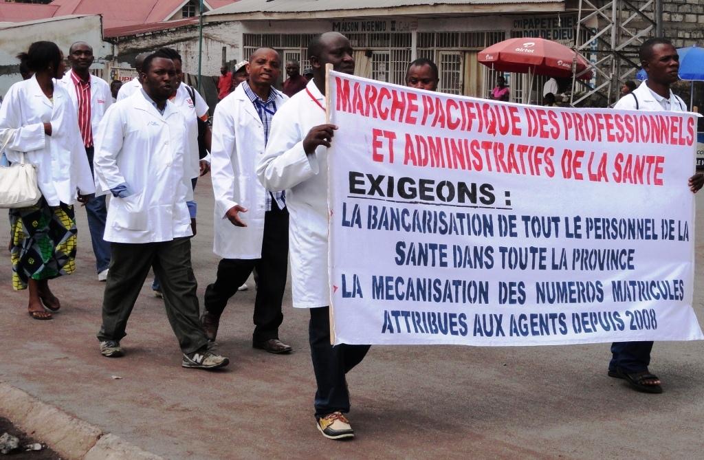 Marche du personnel de Santé de Goma