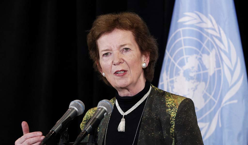 Mary_Robinson, Envoyé spéciale du SG de l'ONU pour la Région des Grands Lacs