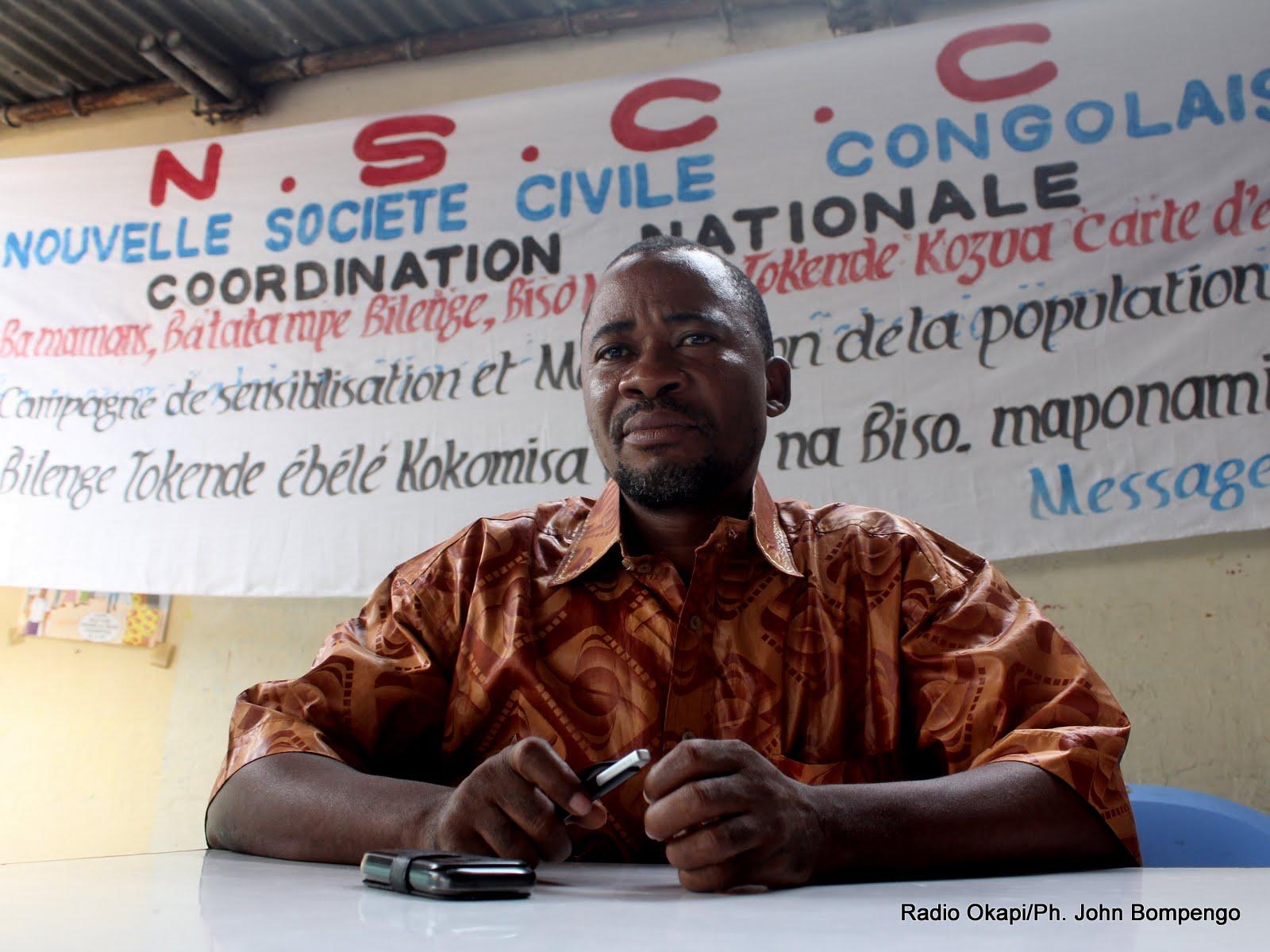 Jonas Tshiombela, Coordonnateur national de la NSCC