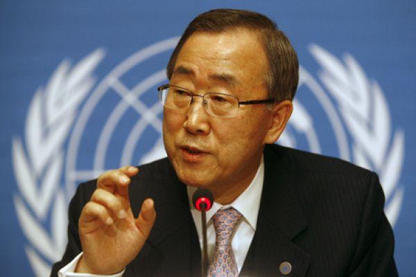Le S.G de l'ONU, Ban Ki-moon