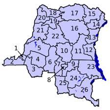 Carte de la RDC découpée