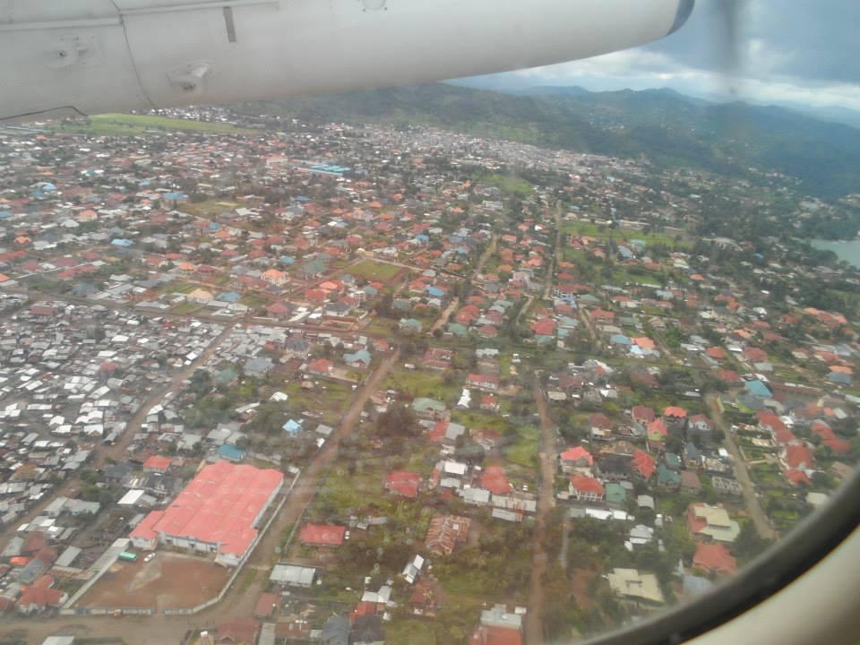Vue aérienne de la ville de Goma