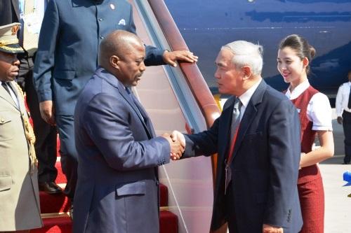 Arrivée du Président Joseph Kabila à Pékin