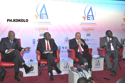Les  panélistes de la CEA à la conférence de presse à Kinshasa