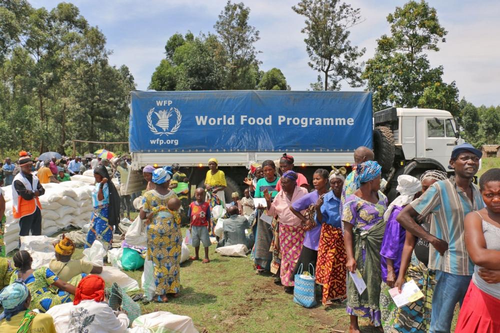Les déplacés bénéficiant de l'assistance du PAM au Nord-Kivu (Photo: Jacques David)