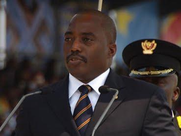 Le président de la RDCongo, Joseph Kabila, lors de la célébration de 50 ans de l'indépendance à Kinshasa le 30 juin 2020.