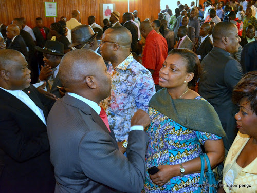 Vital Kamerhe et Eve Bazaïba, se concertent après le lancement du Front citoyen 2016